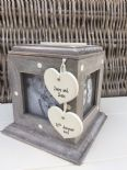 Shabby Chic Rustic Wood Style Personalised Mother Of Groom Gift Photo Cube Box